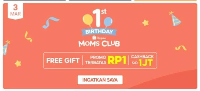 ulang tahun perdana Shopee Moms Club