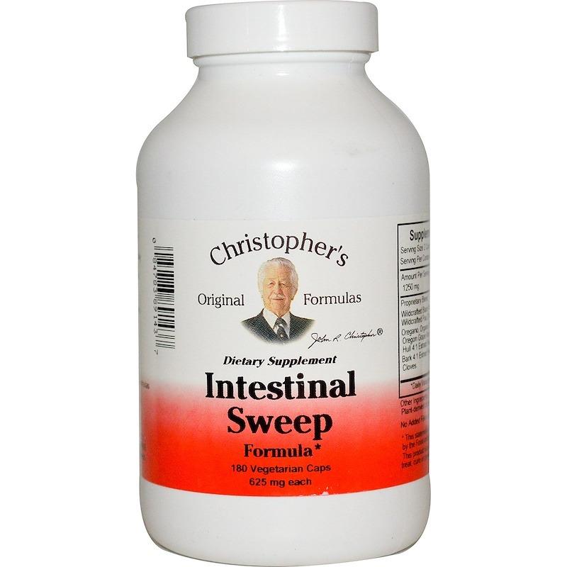 Christopher's Original Formulas, Intestinal Sweep Formula, 625 мг, 180 вегетарианских капсул