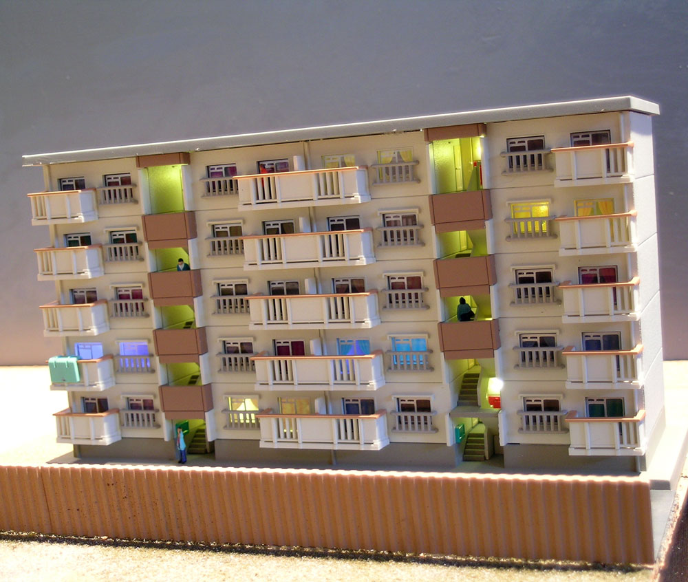 Tokyo In N Scale: Finishing The Aoshima Apartments