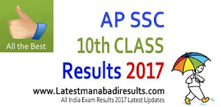 AP SSC 10th Class Results 2017, AP 10th Result Today 3 PM