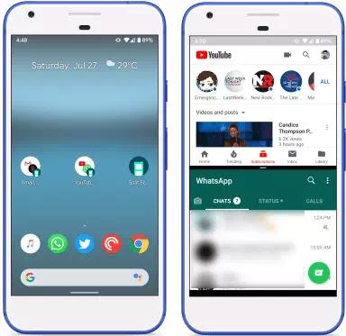 Cara membuka 2 aplikasi langsung dalam mode split screen-2