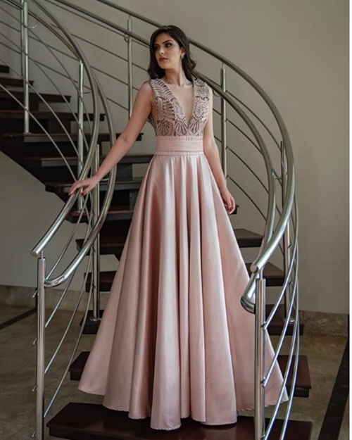 vestido rose madrinha