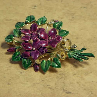 Purple violet brooch by Exquisite