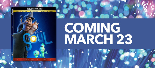 Pixar Soul on 4K and Blu-ray on March 23, 2021