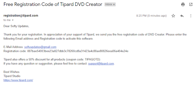 Get Tipard DVD Creator Free License