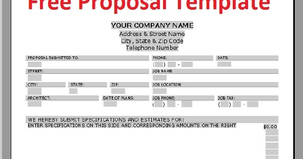 Sales Proposal Template - Download Free Office Templates - sales proposal template