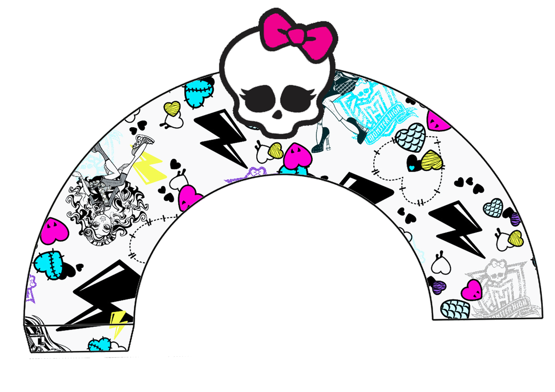 Monster High Free Printable Wrappers Cupcake.