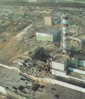 Разрушеный реактор Чернобыльской АЭС фото