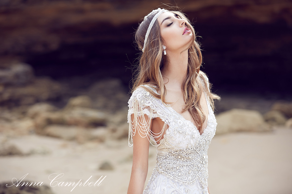 Vestidos de novia vintage anna campbell