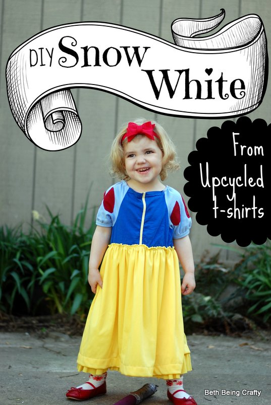 Rags to Riches An Upcycled Snow White Costume  sc 1 st  Beth Being Crafty - Blogger : snow white costume diy  - Germanpascual.Com