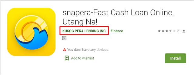 snapera-Fast Cash Loan Online, Utang Na! (Online Lending App)