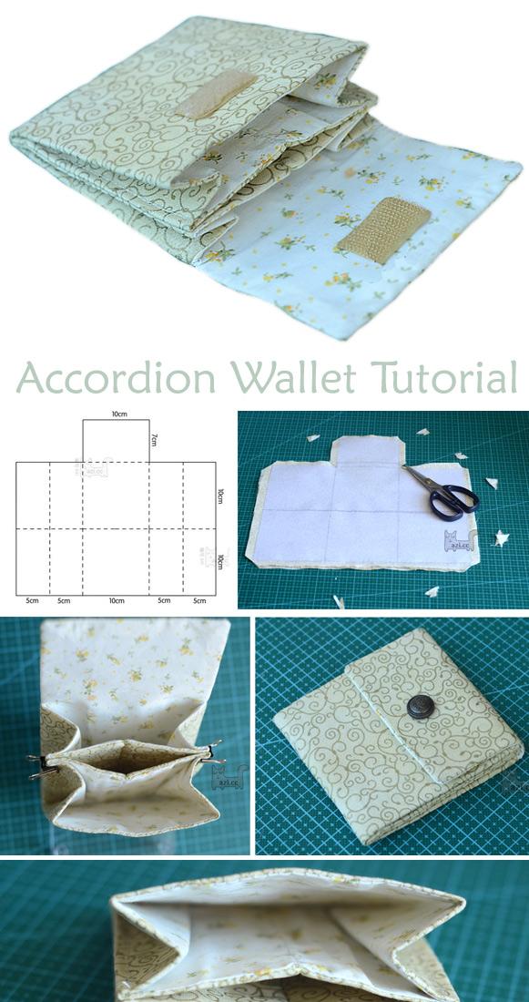 Accordion Wallet / Clutch Tutorial