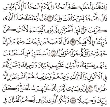 Tafsir Surat Al-Israa Ayat 61, 62, 63, 64, 65