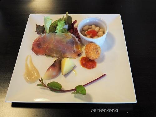 クチーナノブ、ランチの前菜
