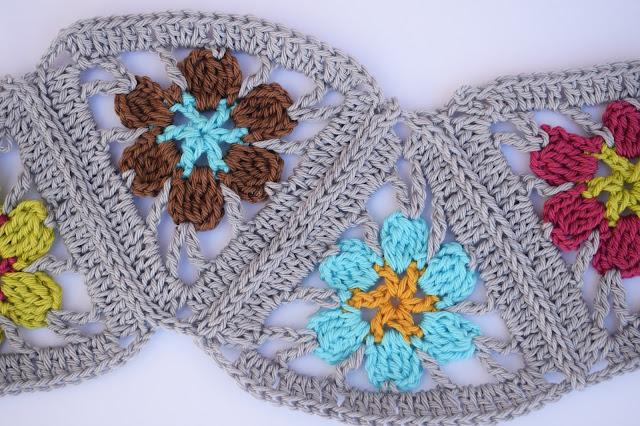 6 - Crochet Imagen Puntada de triangulos flores a crochet y ganchillo por Majovel Crochet