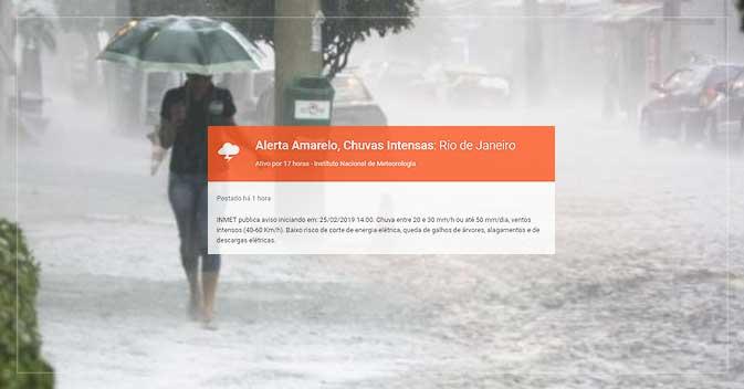 6edf822ba Defesa Civil do Rio emite alerta para chuva intensa | Notícias de ...