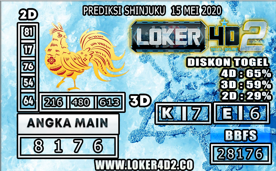 PREDIKSI TOGEL SHINJUKU LUCKY 7 LOKER4D2 15 MEI 2020