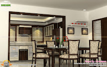 Wash Area Dining Kitchen Interior - Kerala Home Design