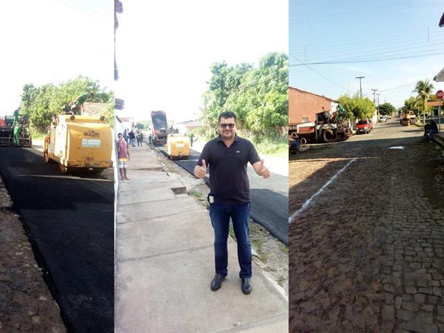 O melhor da região: Prefeito Venicio do Ó comemora inicio da pavimentação asfáltica