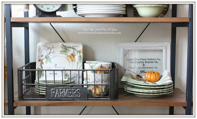 Farmhouse Style- Fall Kitchen-From My Front Porch To Yours-Maxcera- Pumpkin Flower