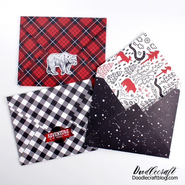 Learn how to fold cute paper envelopes and matching cards using double sided paper. These cute cards can be sent through the mail and brighten the day of the recipient!