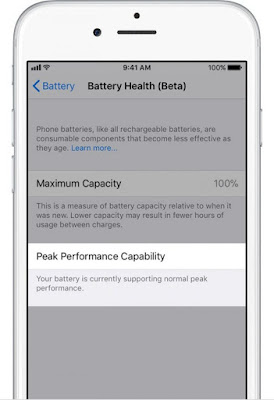 1 How to check the status of the battery and to disable the restriction of performance in iOS 11.3 Apple