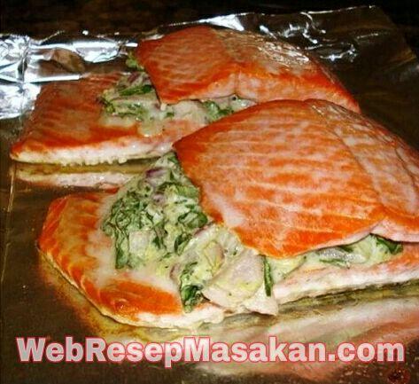 Ikan Salmon Panggang, Resep ikan salmon panggang oven,