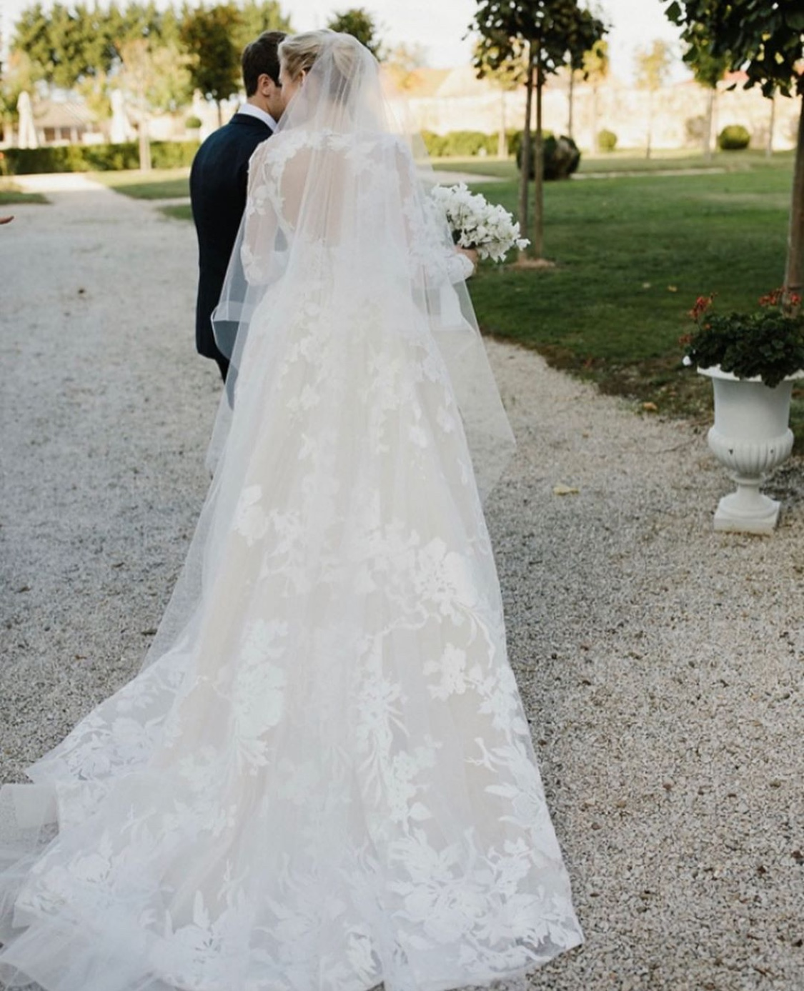 Love Story: A Monique Lhuillier Wedding Gown of Dreams at the Chateau de Varennes