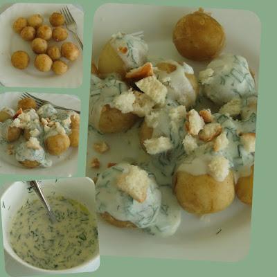 картофель жареный под сметанным соусом