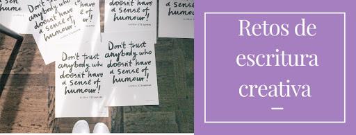 Cartel para retos de escritura creativa