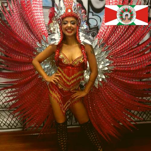 A Índia da vez do coração da Unidos dos Guaranys   Kathleen Sacha 2020 rainha da bateria.