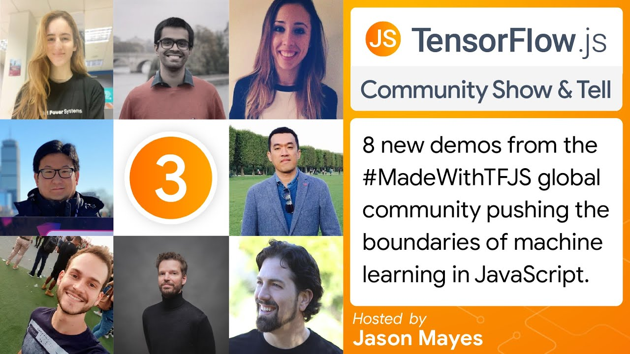 A new YouTube show: TensorFlow.js Community Show & Tell