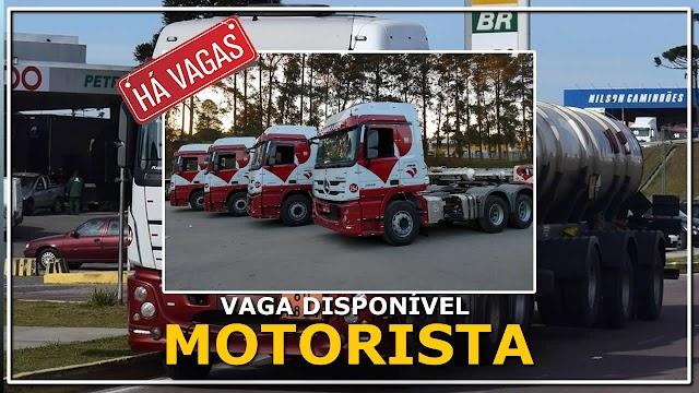 Transportadora Videira abre vagas para Motorista 9 Eixos