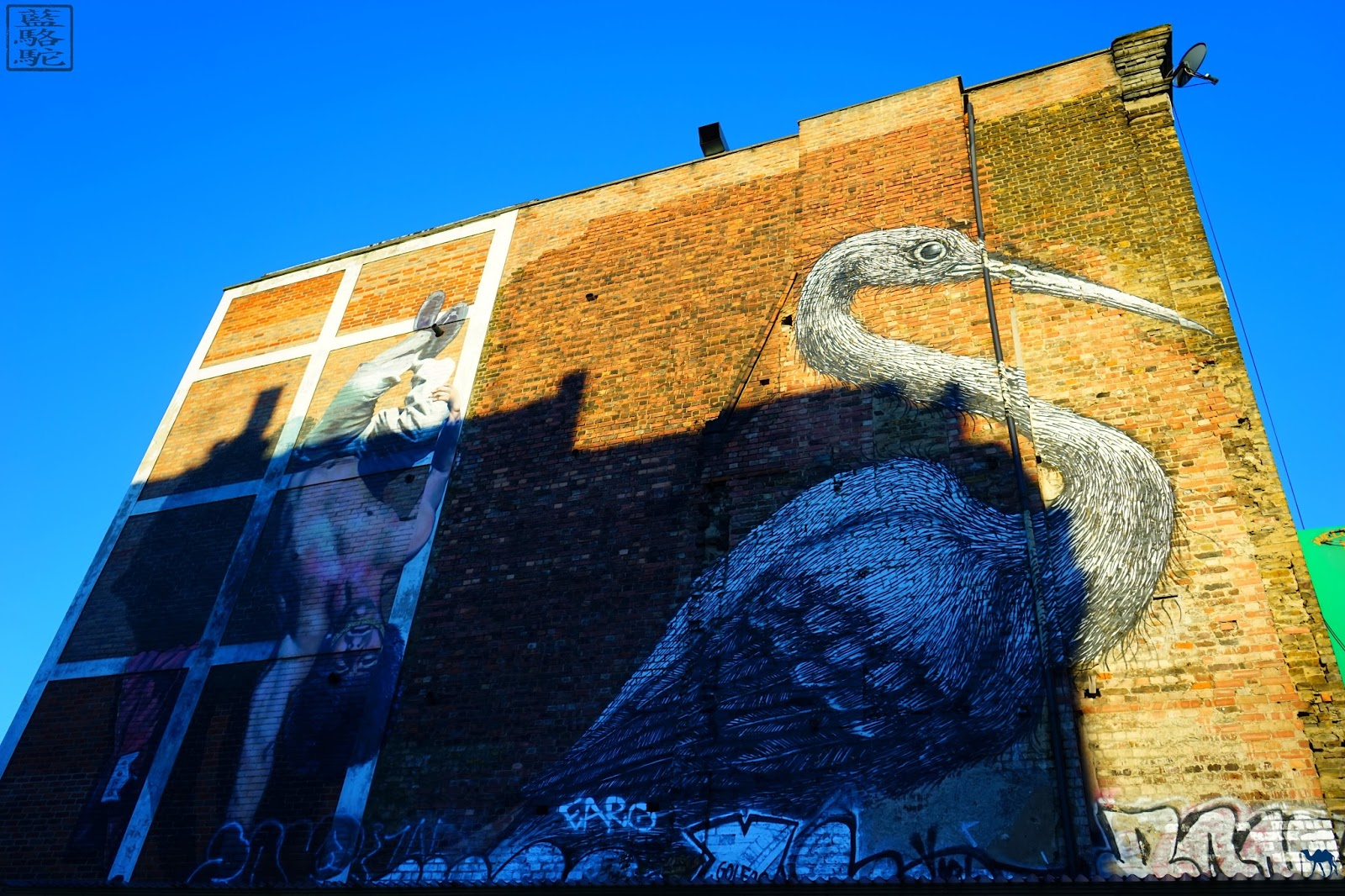 Le Chameau Bleu - Roa à Londres - Quartier de ShoreDitch