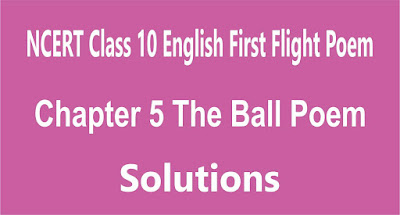 NCERT Class 10 English First Flight Poem Chapter 5 The Ball Poem