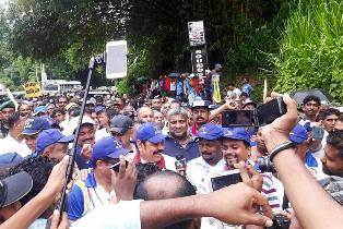 joint opposition paada yathrawa Final rally in open space