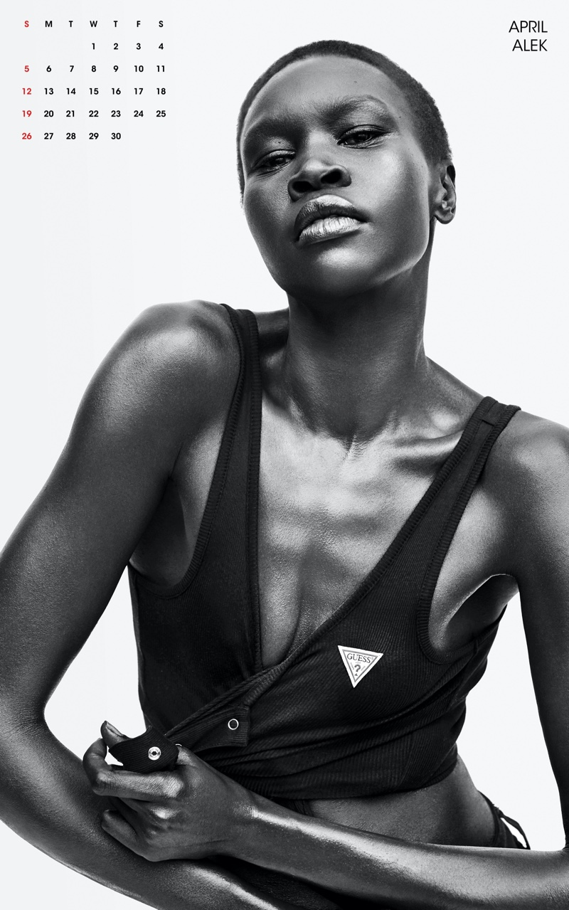 Alek Wek for April. Photo: Zoey Grossman for V Magazine