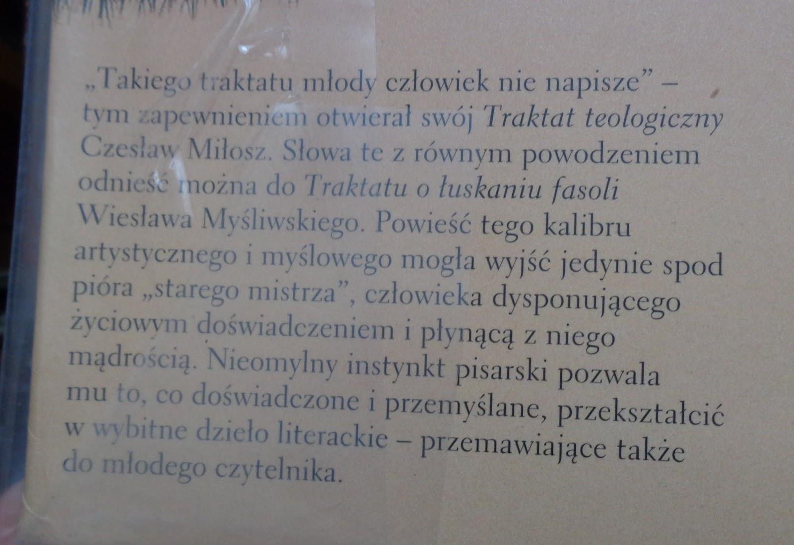 traktat o łuskaniu fasoli cytaty Książkowo: TRAKTAT O ŁUSKANIU FASOLI | Wszystkie moje bziki traktat o łuskaniu fasoli cytaty