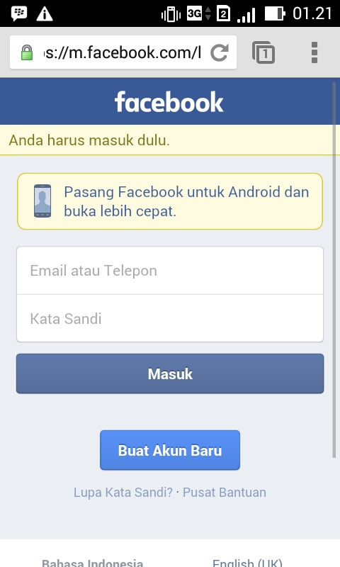 Masuk Ke Akun Facebook Dan Setelah Anda Sudah Membuka Browser Yang Akan Anda Pakai Untuk Masuk Ke Akun Facebook Silahkan Anda Ketik Facebook Com Dan