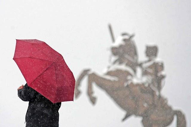 Bild des Tages - Zweiter Winter in Skopje