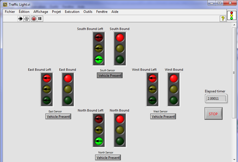 Labview Time Cld Exam Traffic Light Controller