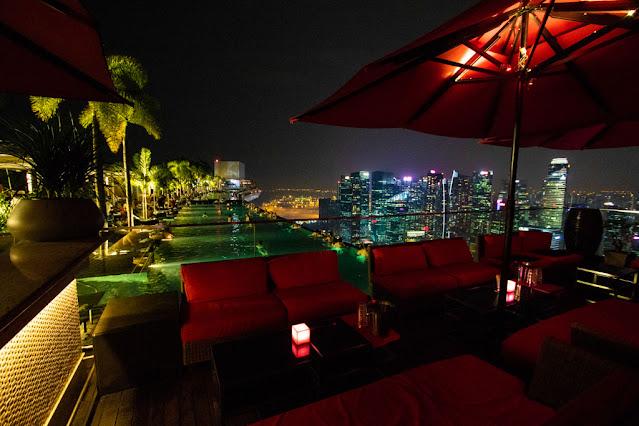 Infinity pool del Sand Sky park al Marina bay Sands- Singapore