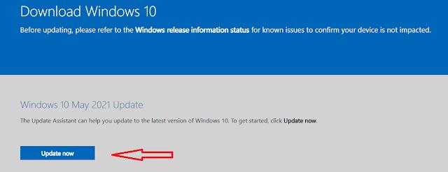 2 Cara Update Windows 10 versi 21H1 Original Mei 2021