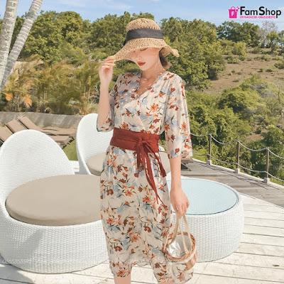 Váy maxi đi biển V570