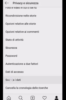 Come fare il backup di Instagram