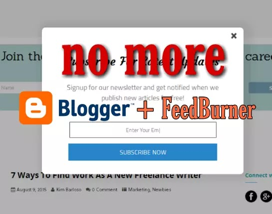 Feedburner goodbye to email subscription service