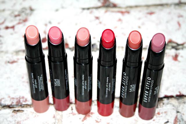 MUA Super Stylo Satin Finish Lipsticks