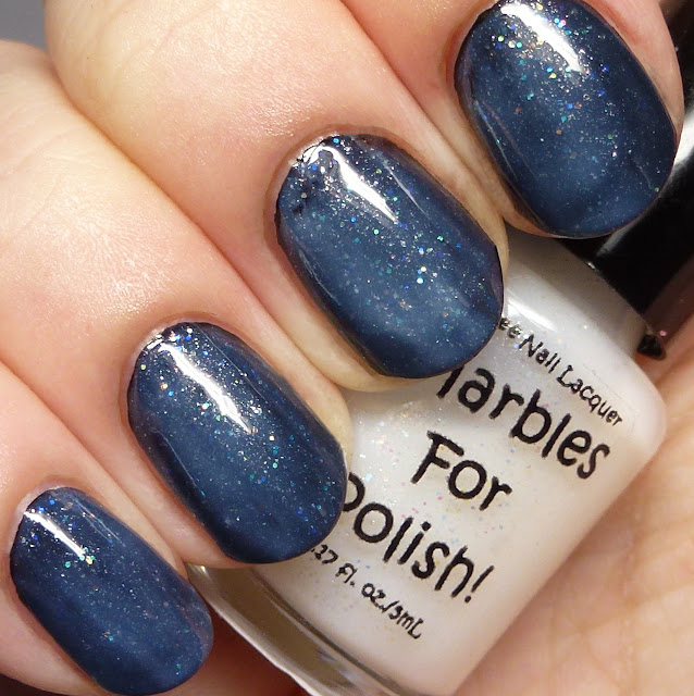 Marbles For Polish Love over black