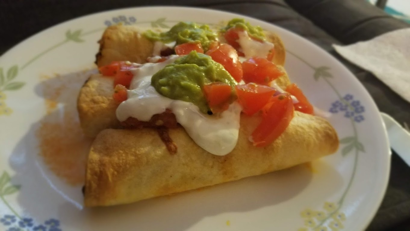 Pork flautas from Hello Fresh
