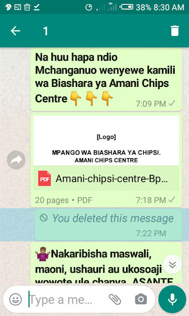 Amani chips centre business plan